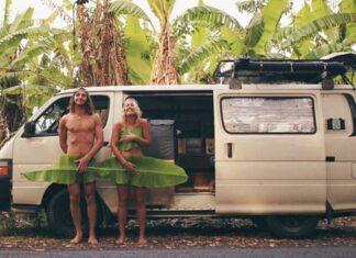 hippie couple