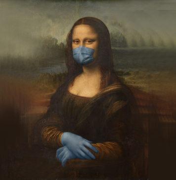 monalisa with mask